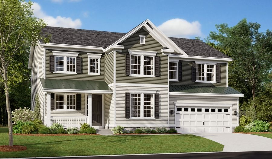 Exterior featured in the Presley By Richmond American Homes in Baltimore, MD