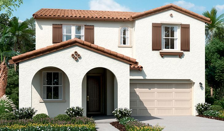 Sanford-N798-Oliveto Elevation A:The Sanford - Elevation A