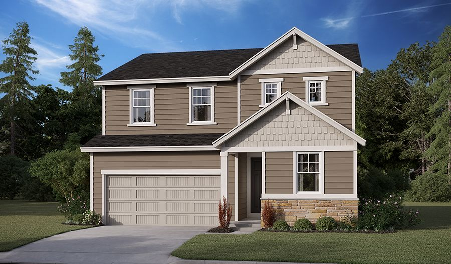 Exterior featured in the Pearl By Richmond American Homes in Salem, OR