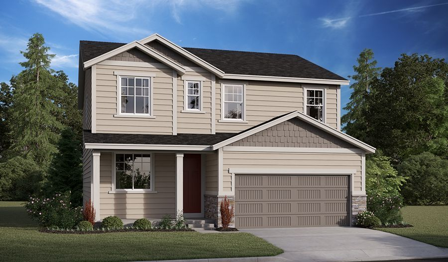 Exterior featured in the Lapis By Richmond American Homes in Salem, OR