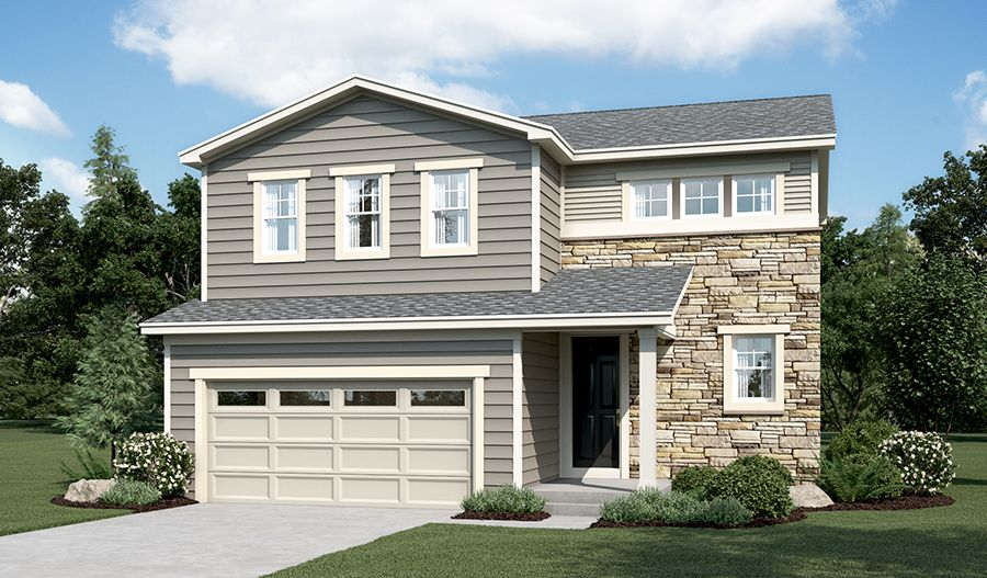 Exterior featured in the Coral By Richmond American Homes in Greeley, CO