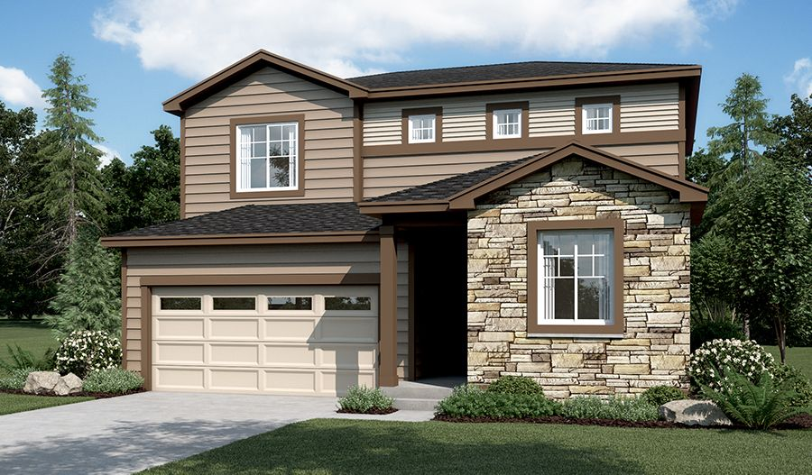 Exterior featured in the Citrine By Richmond American Homes in Greeley, CO