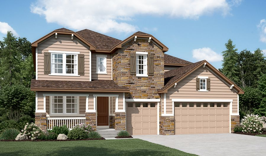 Exterior featured in the Dillon II By Richmond American Homes in Boulder-Longmont, CO