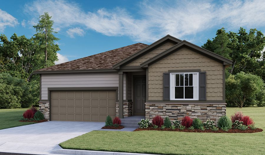 Exterior featured in the Arlington By Richmond American Homes in Greeley, CO