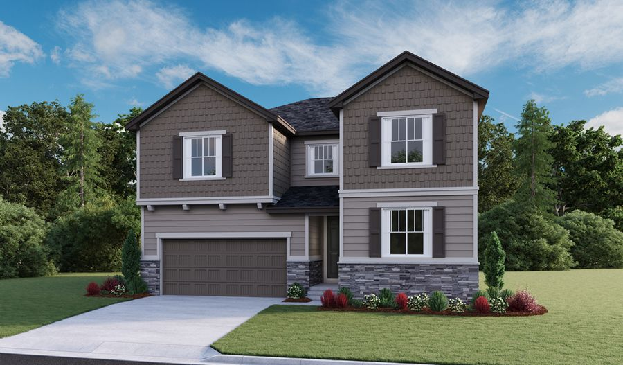 Exterior featured in the Coronado By Richmond American Homes in Fort Collins-Loveland, CO