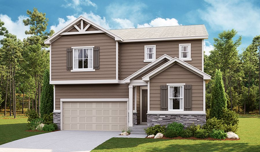 Exterior featured in the Moonstone By Richmond American Homes in Greeley, CO