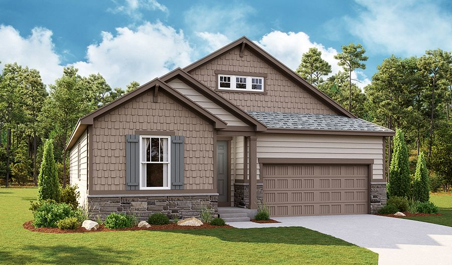 Exterior featured in the Agate By Richmond American Homes in Greeley, CO