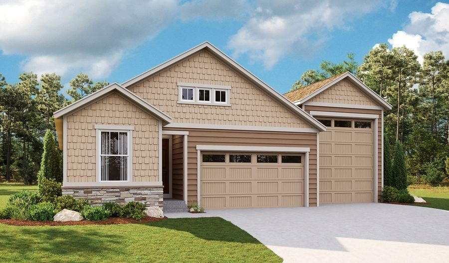 Exterior featured in the Bronze By Richmond American Homes in Greeley, CO