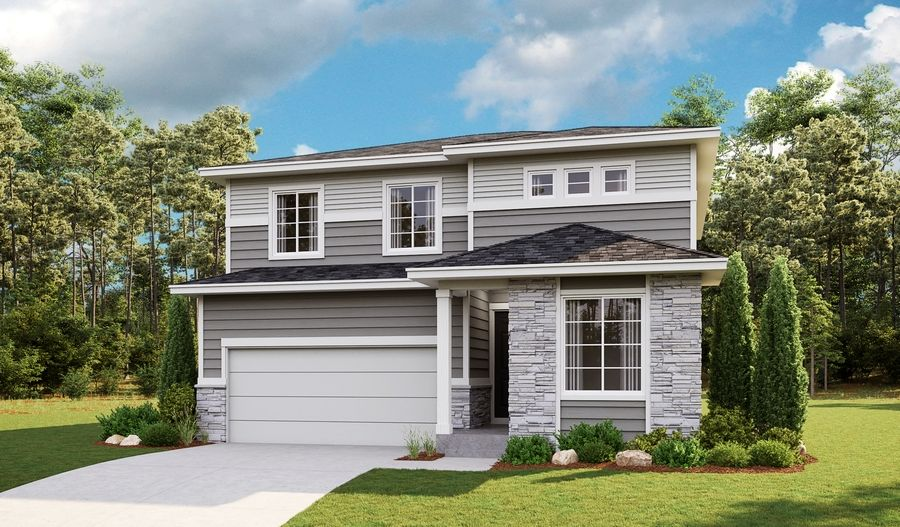 Exterior featured in the Pearl By Richmond American Homes in Fort Collins-Loveland, CO