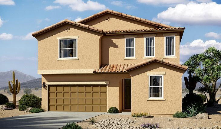 Moonstone-T914-VahallaEstates Elevation A:The Moonstone - Elevation A