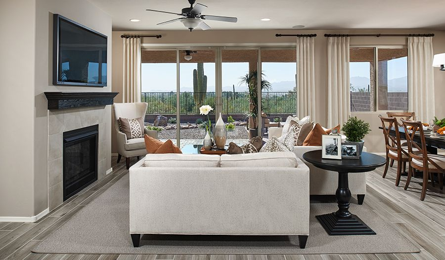 Living Area featured in the Arlington By Richmond American Homes in Tucson, AZ
