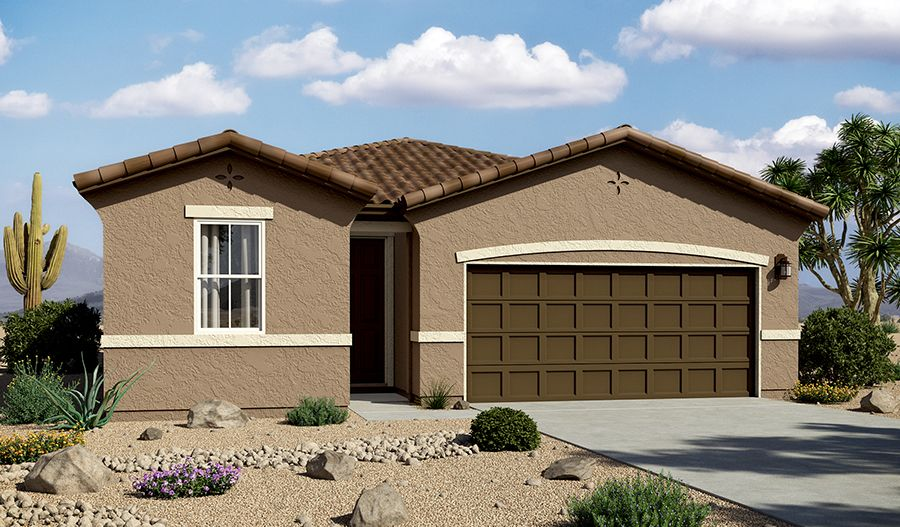 Exterior featured in the Peridot By Richmond American Homes in Tucson, AZ