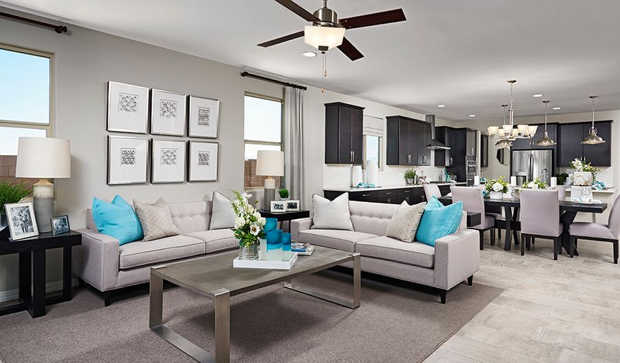Living Area featured in the Raleigh By Richmond American Homes in Tucson, AZ