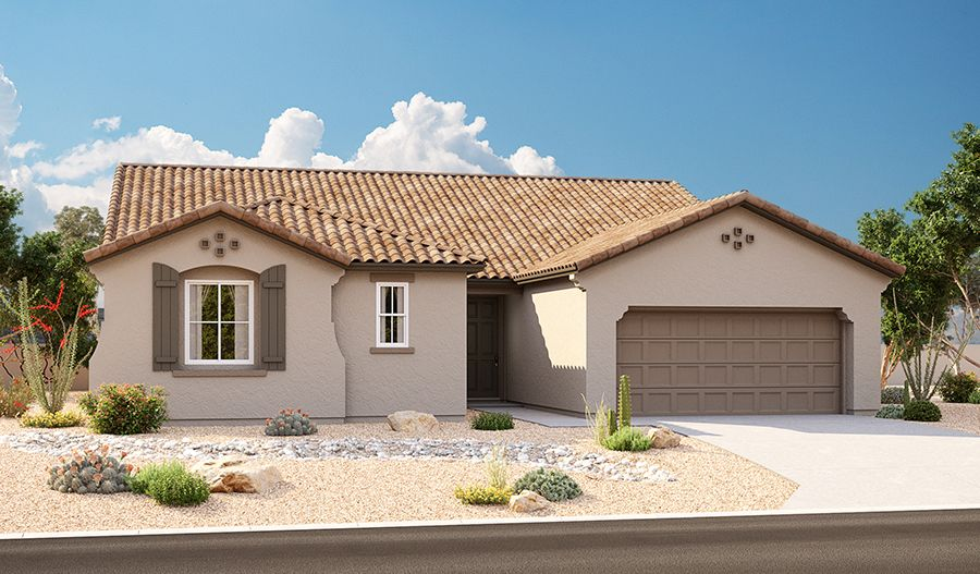 Exterior featured in the Dominic By Richmond American Homes in Tucson, AZ