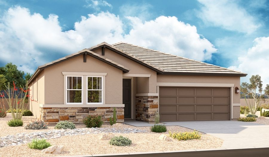 Exterior featured in the Raleigh By Richmond American Homes in Tucson, AZ