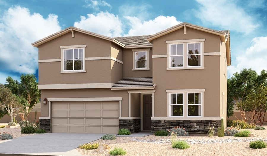 Exterior featured in the Coronado By Richmond American Homes in Tucson, AZ