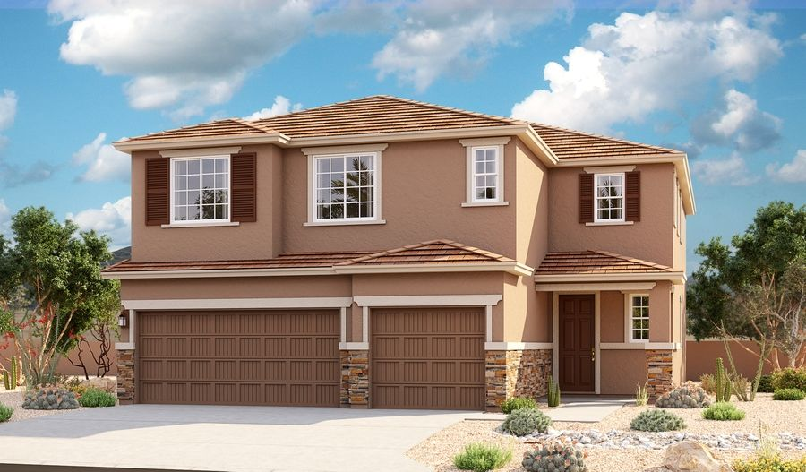 Exterior featured in the Yorktown By Richmond American Homes in Tucson, AZ