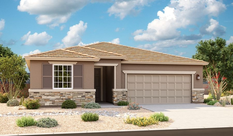 Exterior featured in the Augusta By Richmond American Homes in Tucson, AZ