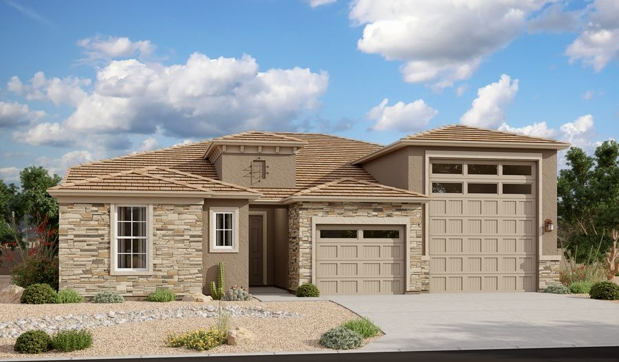 Exterior featured in the Deacon By Richmond American Homes in Tucson, AZ