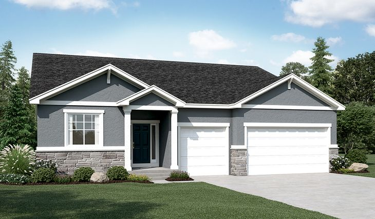 Dearborn-U729-LaytonShores Elevation A:The Dearborn - Elevation A
