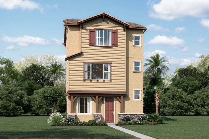 Evette-S703-TheGrove Elevation A:The Evette - Elevation A