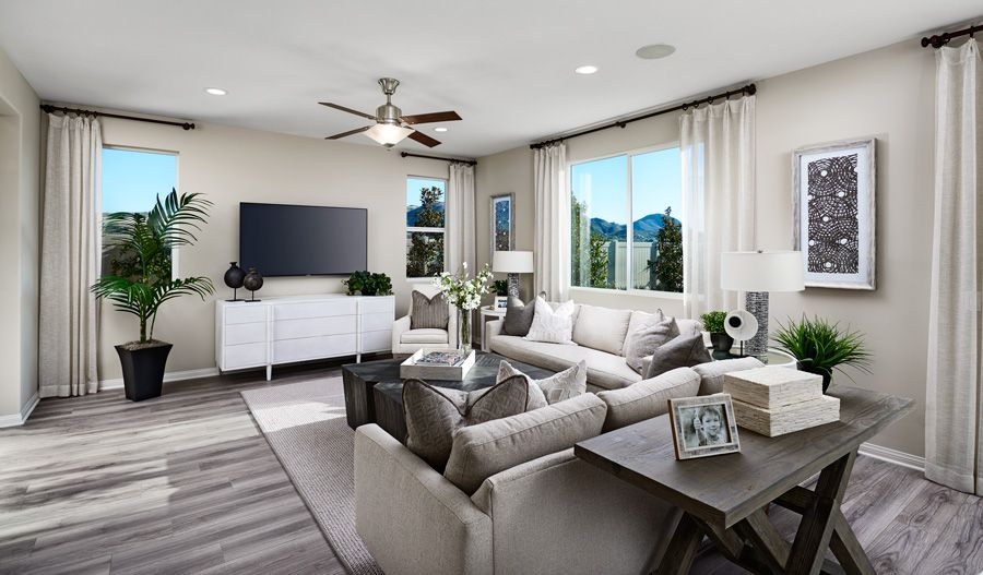 Living Area featured in the Pearl By Richmond American Homes in Los Angeles, CA