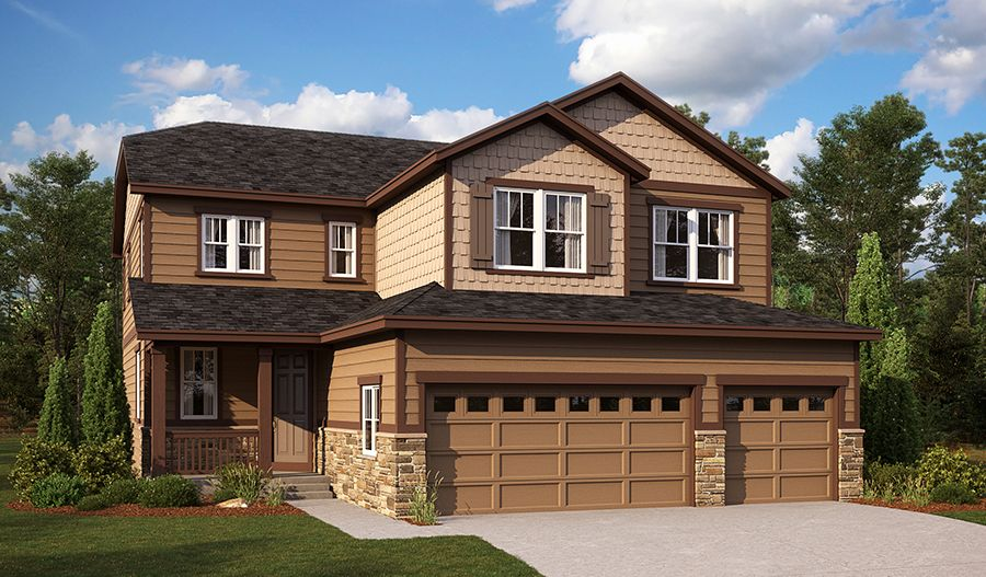 Exterior featured in the Seth By Richmond American Homes in Denver, CO