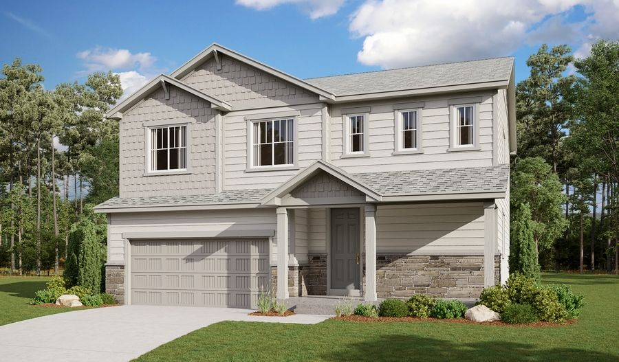 Exterior featured in the Bedford By Richmond American Homes in Colorado Springs, CO