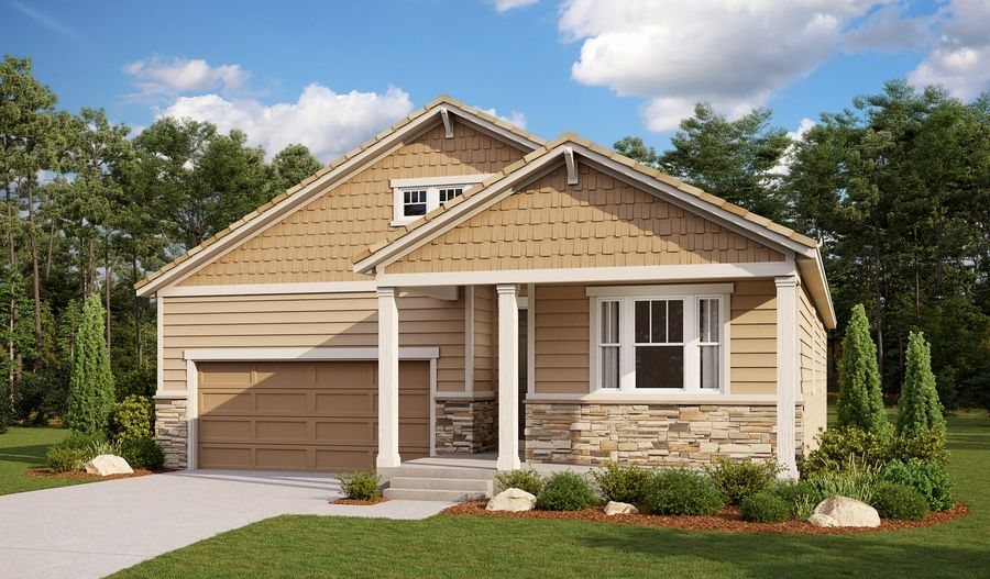 Exterior featured in the Arlington By Richmond American Homes in Colorado Springs, CO