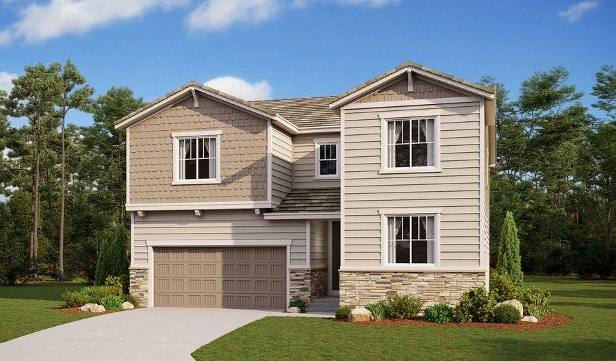 Exterior featured in the Coronado By Richmond American Homes in Colorado Springs, CO