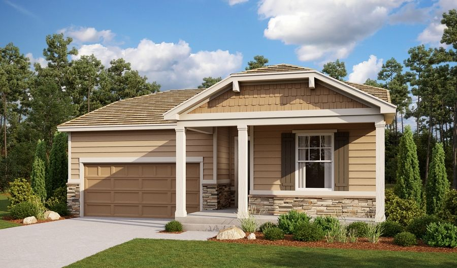 Exterior featured in the Amethyst By Richmond American Homes in Colorado Springs, CO