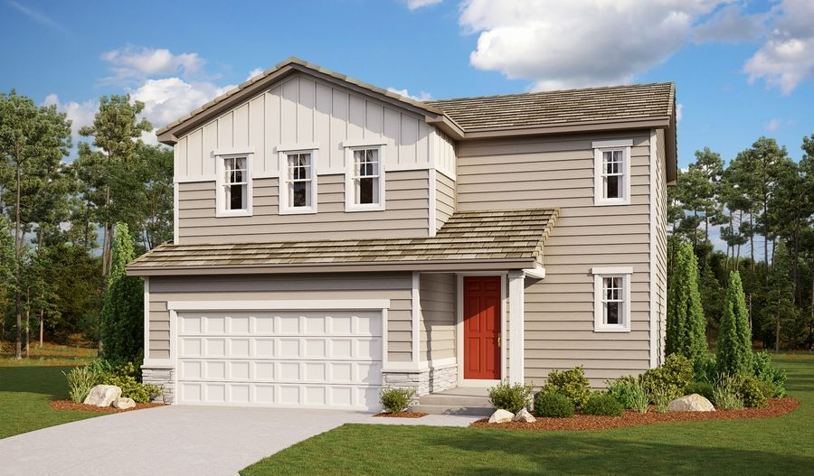 Exterior featured in the Coral By Richmond American Homes in Colorado Springs, CO