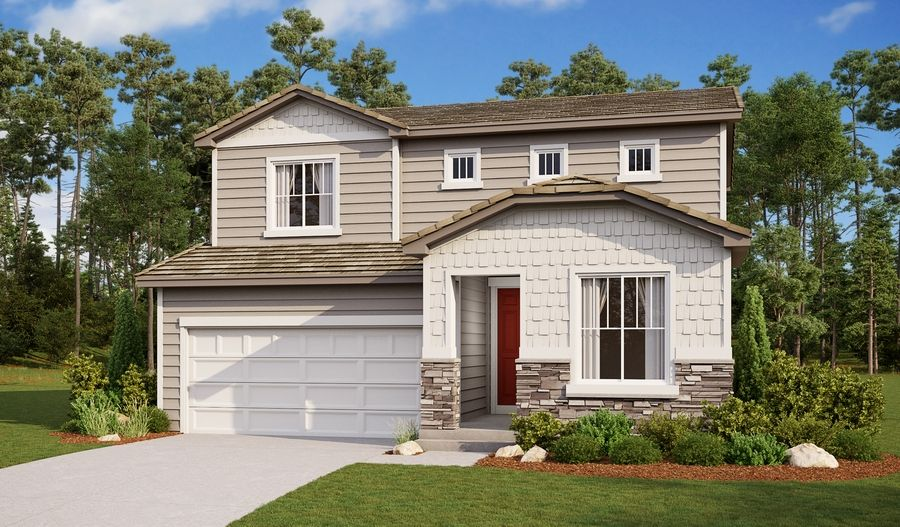 Exterior featured in the Citrine By Richmond American Homes in Colorado Springs, CO