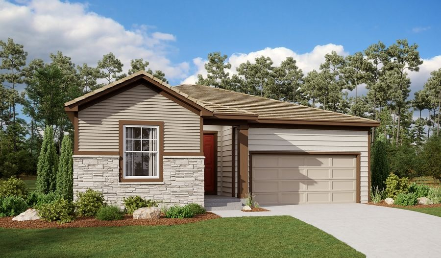 Exterior featured in the Alexandrite By Richmond American Homes in Colorado Springs, CO