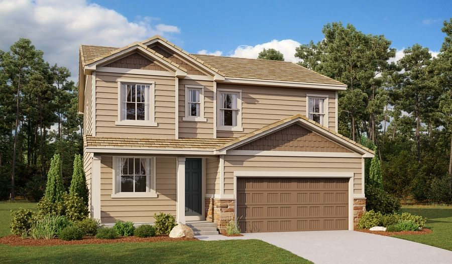 Exterior featured in the Lapis By Richmond American Homes in Colorado Springs, CO