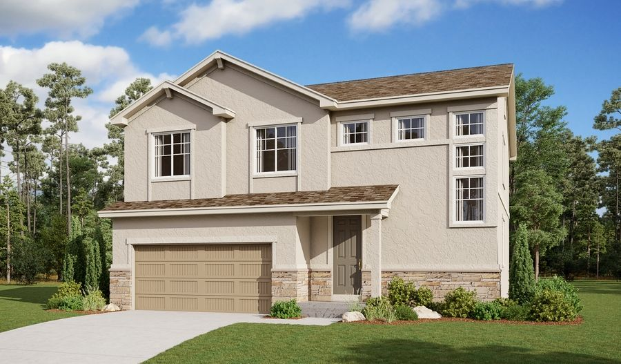 Exterior featured in the Bedford By Richmond American Homes in Pueblo, CO