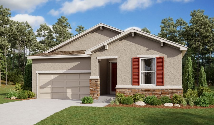 Exterior featured in the Onyx By Richmond American Homes in Pueblo, CO