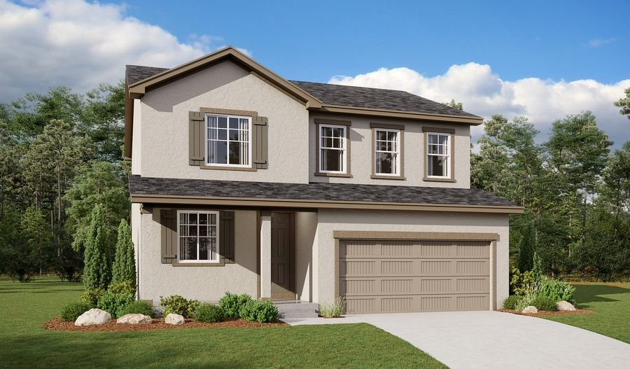 Exterior featured in the Lapis By Richmond American Homes in Pueblo, CO