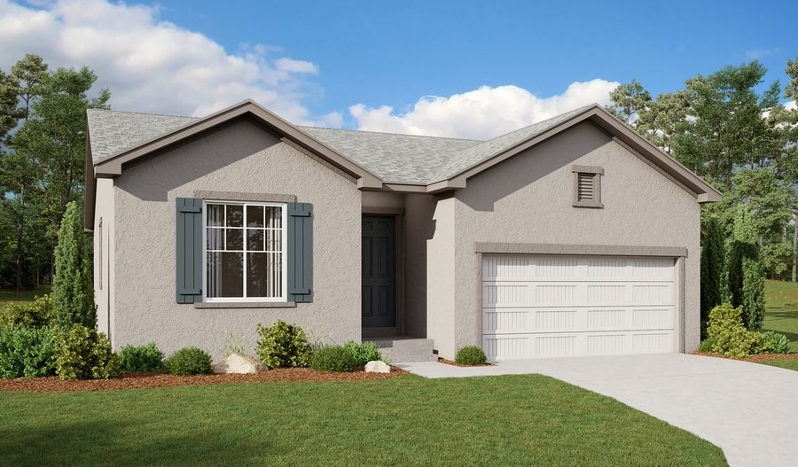 Exterior featured in the Noble By Richmond American Homes in Pueblo, CO