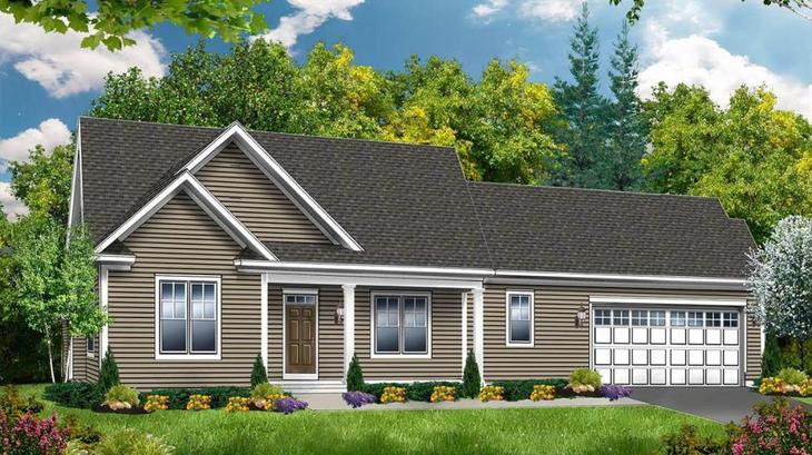 The Fairfield:Traditional Elevation
