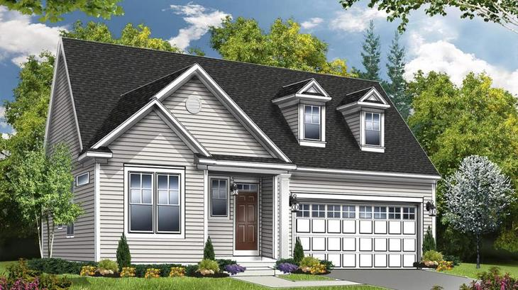 The Oakmont:Traditional Elevation