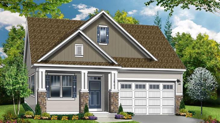 The Clayton:Cottage Elevation