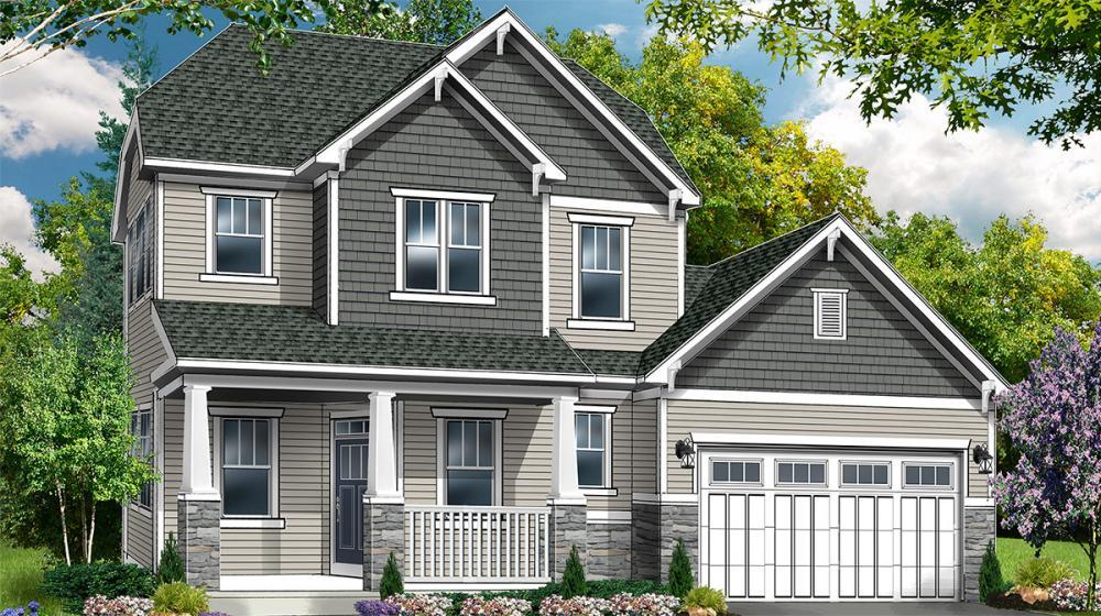 Exterior featured in The Woodbury By Riedman Homes in Rochester, NY