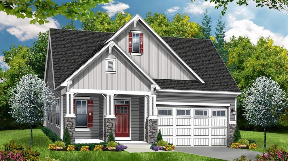 Exterior featured in The Greenport By Riedman Homes in Elmira, NY