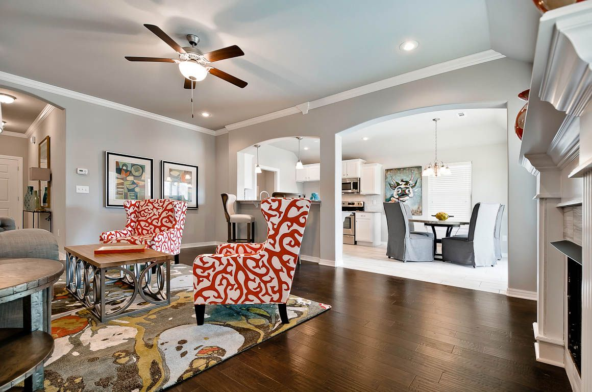 Living Area featured in the 1358 By Riverwood Homes - Arkansas in Fayetteville, AR