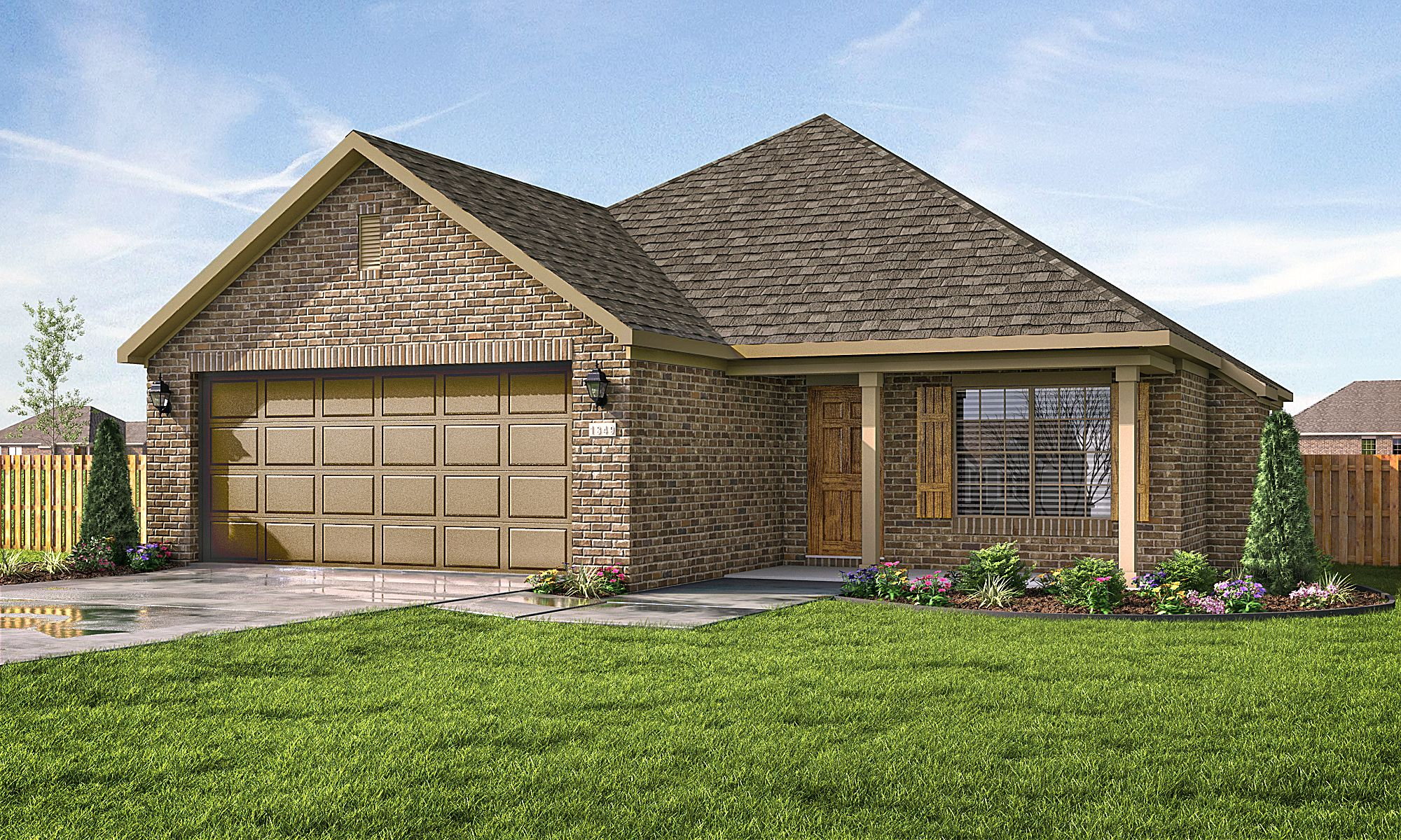 Exterior featured in the 1463 By Riverwood Homes - Arkansas in Fayetteville, AR