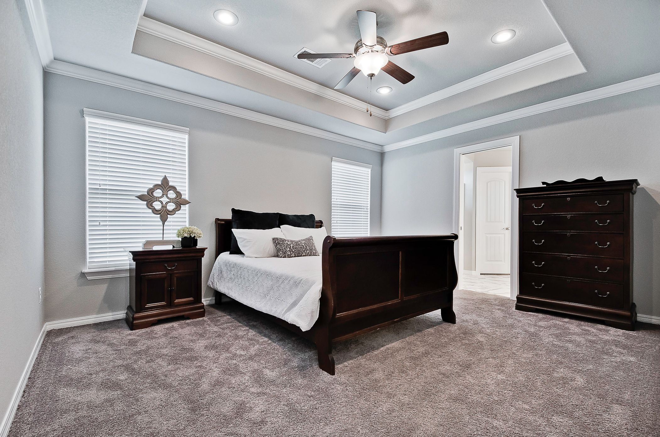 Bedroom featured in the 1463 By Riverwood Homes - Arkansas in Fayetteville, AR