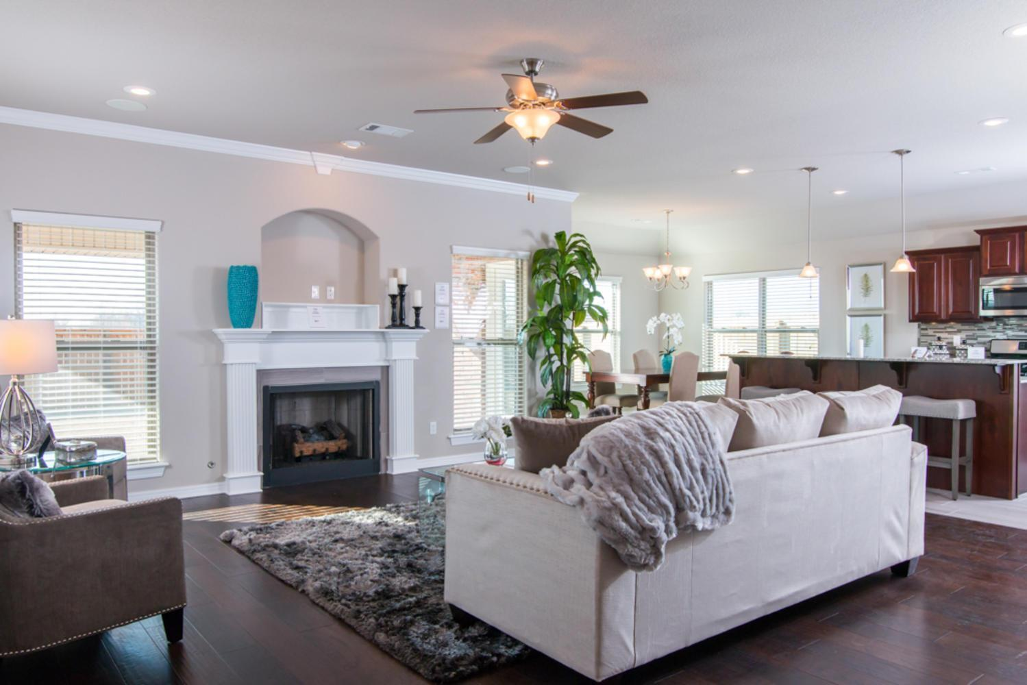 Living Area featured in the Hamilton 1787 By Riverwood Homes - Arkansas in Fayetteville, AR