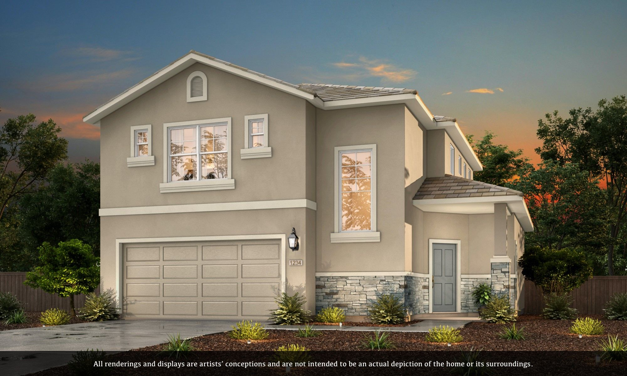 Exterior featured in the Residence 1745 By Riverland Homes, Inc. in Sacramento, CA