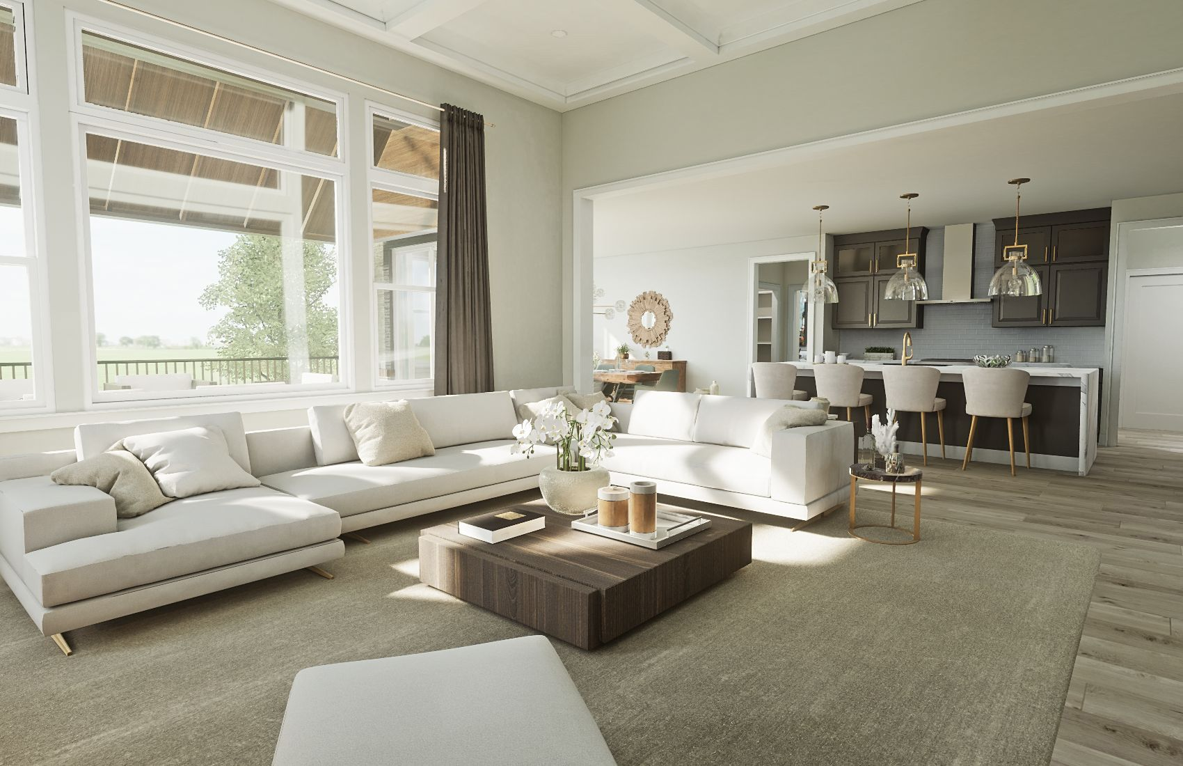Living Area featured in the Hickory By Robertson Brothers  in Detroit, MI